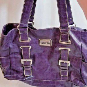 Kenneth Cole Reaction Plum Purple Leather bag